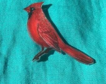 Cardinal Bird Pin