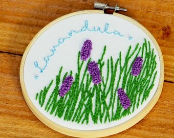 Lavender Plant Handmade Embroidery
