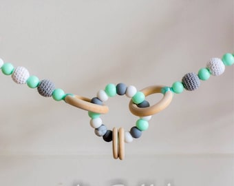 Pram garland/ Silicone beads garland/ teether garland