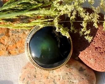 Obsidian Celestial Eye - deep wave ring