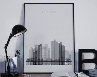 Brisbane Art Brisbane Watercolor Brisbane Wall Art Brisbane Wall Decor Brisbane Home Decor Brisbane Print Brisbane Poster Brisbane Photo