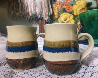 Dripware Earthenware Ceramic Mugs, Boho Coffee Cups