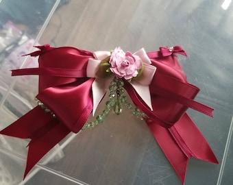 Handmade Rose Bow