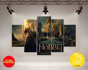 Hobbit canvas, Hobbit wal art, Gandalf canvas, Bilbo Baggins canvas, Lord of the rings, Rivendell canvas, LOTR canvas, An Unexpected Journey