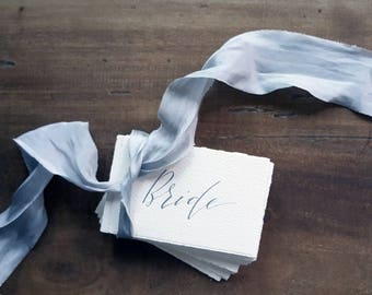 Wedding Place Cards. Handmade Paper Calligraphy Name Cards. Vintage Wedding Placecards. Wedding Table Decorations.