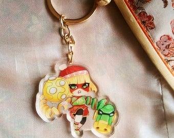 Nintendo Arms Min Min Charm Keychain