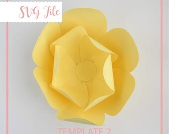 SVG Paper Flower, Giant Paper Flower Template, Paper Flower Template, Flower Template, DIY, Base and Instruction Including