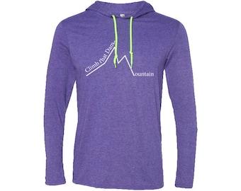Men's LS T-Shirt Hoodie| Hiking Hoodie | Adventure Hoodie | Gift for men | Vintage | Valentines day gift | Travel Sweatshirt | Wanderlust