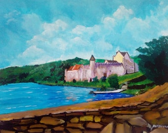 The Castle by the Sea - Limited Edition Giclee Print, Wall Art, Castle Art, Living Room Decor, Bedroom Decor
