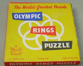 1950's Merit Plastic Olympic Rings Puzzle