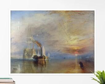 "J.M.W. Turner, ""The Fighting Temeraire tugged..."". Art poster, art print, rolled canvas, art canvas, wall art, wall decor"
