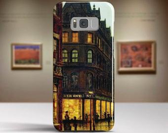 "John Grimshaw, ""Boar Lane, Leeds"".Samsung S8 Case, Samsung S7 Case, Samsung S6 Case, Huawei, LG, Google Pixel Cases. Art phone cases."