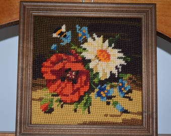 Needlepoint picture vintage