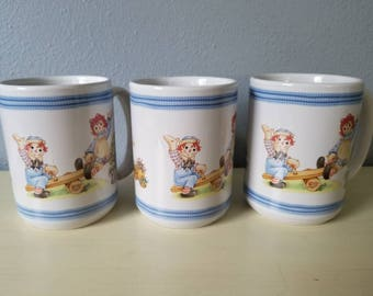 Raggedy Ann and Andy mugs