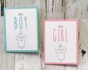 It's a BOY | It's a GIRL Card for Baby Shower | BABY Card | Rae Dunn Inspired