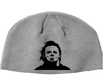 Halloween Michael Myers John Carpenter Shape Boogie Man Beanie Knitted Hat Cap Winter Clothes Horror Merch Massacre Christmas Black Friday