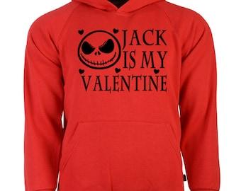 Nightmare Before Christmas Jack Valentine's Day Unisex Hoodie Pullover Sweatshirt Sizes Colors Custom Horror Halloween Merch Massacre