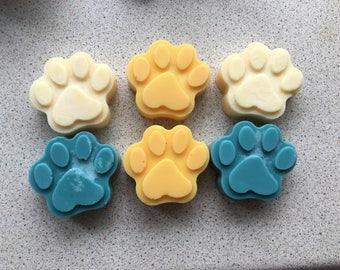 MAGNOLIA & ORANGE BLOSSOM cute paw print Soy Wax Tart Melt approx 30g