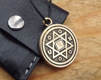Protection Amulet, talisman amulet, Magic father's pentacle
