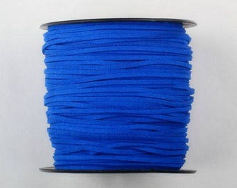 1 m Royal Blue Suede cord