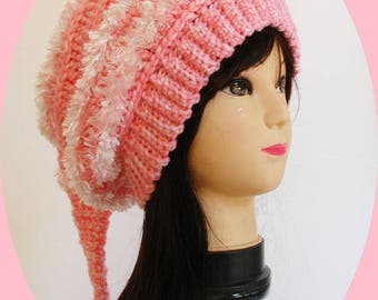 Oh so comfy over sized crochet slouchy pixie hat