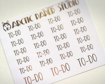 To-do (CAPS) - FOILED Sampler Event Icons Planner Stickers