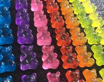 7pc. or 25pc. Gummy Bear Life Like 3D Resin Set