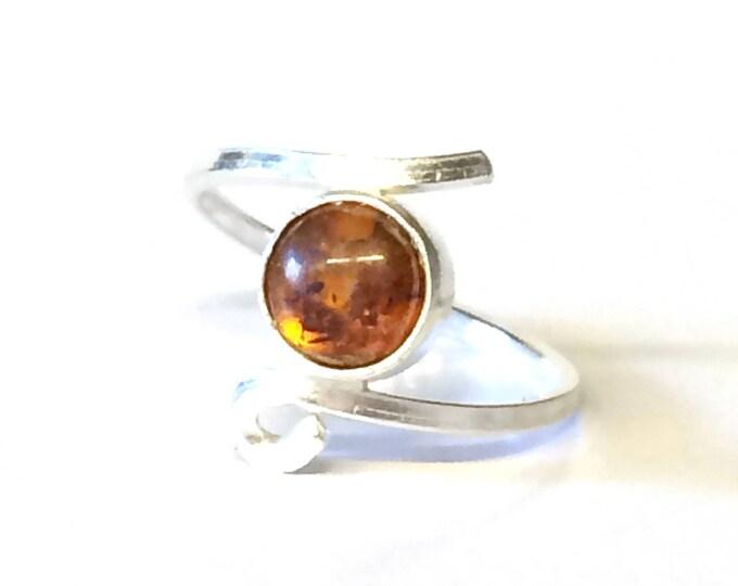 Adjustable Amber Ring