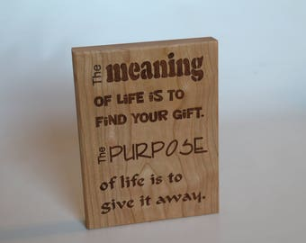 The Meaning of Life Plaque
