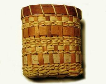 Birch Bark Necklace Basket Pattern