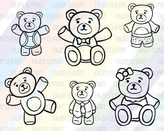 Bear Svg, Bear Toy Clipart, Teddy Bear Svg, Teddy Bear Clipart, Svg Cutting File, Svg Downloads, Cricut Downloads, Svg Files For Cricut