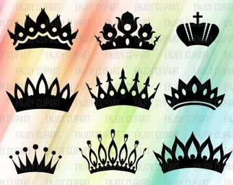 Crown Svg File, Crown Clipart, King Crown Svg, Crown Decal, Princess Crown Svg, Crown Cut Out, Svg Cuts, Cricut Designs, Clipart Svg, Png