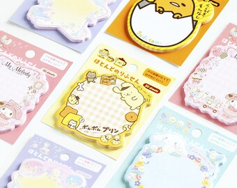Sanrio Sticky Notes - Memo Pads - Little Twin Stars, Cinnamoroll, Gudetama, My Melody, Pompompurin - Kawaii School Supplies