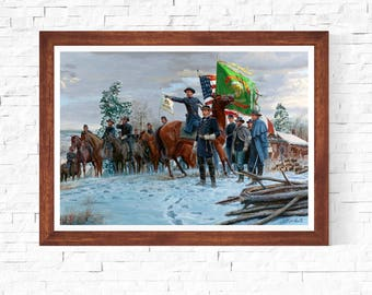 Mort Kunstler Soldiers General Meagher Fredericksburg Virginia,1862 Pulp Cover Vintage Art Painting Poster Print Canvas WallArt sizeA2/A3/A4