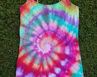 One of a Kind Tie Dye/Rain Dye Tank Top
