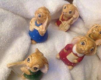 Bunnies set of 5