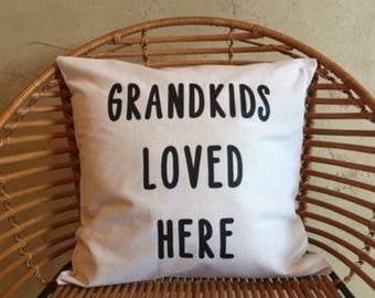 Decorative Throw Pillow, 18x18, Grandma, Grandpa, Grandparents, Home Decor, present, gift, housewarming gift