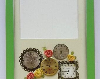 Sale Framed art Photo frame with old clock Vintage photo frame Picture photo frames Home dekor Frame set