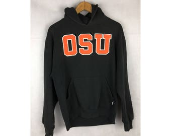 RUSSELL ATHLETIC OSU Hoodies Small Size Long Sleeve Big SpellOut Logo
