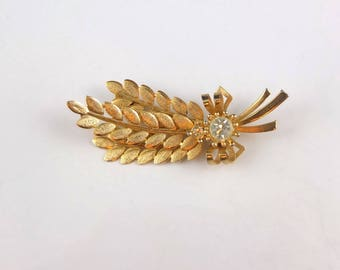 Vintage Sarah Coventry Brooch - Gold Tone Harvest Time Brooch, Signed Sarah Coventry Pin, Vintage 1960s Brooch