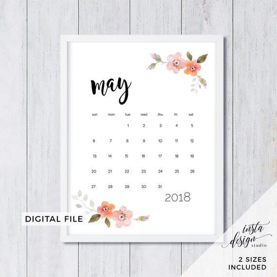 Baby Calendar May : May printable pregnancy baby announcement calendar social