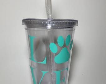 LOVE Tumbler With Straw
