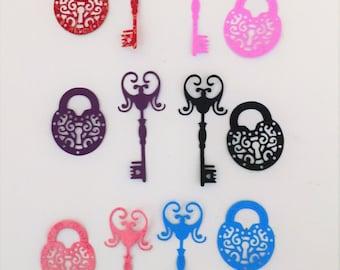 6 gorgeous diecut key and lock embellishments.