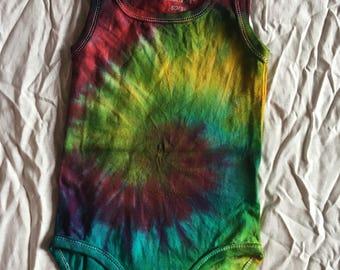 Tie dye baby onesie grower size 50-56