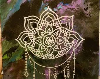 12x12 mandala painting