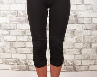 Cropped capri with adjustable bottom and ruching detail - Flexi Capri