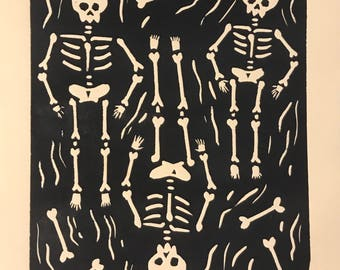 "Original Print ""Skeletons"""