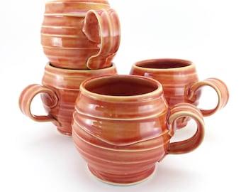 Handmade Juicy Orange Pottery Mug - Dishwasher & Microwave Safe - Made in North Carolina by Jake Ford Ceramics