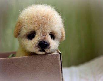 """Puppy """"Ameli"""" - Needle felted animal - Felted toys - Needle felting"""