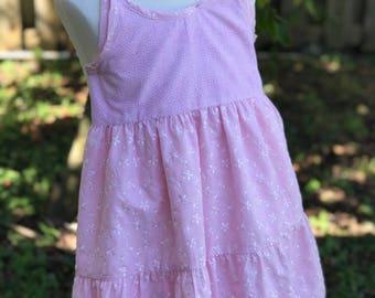 spring dress for girls. Summer dress for toddler. Dress for girls. Dress for photo shoot. Dress for baby girl. vintage Size 5/6. Pink dress.